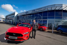 Lookers' new Teeside Ford Store in Middlesbrough and general manager Ken Swindles