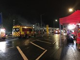 Firefighters at Lookers Renault in Stockport