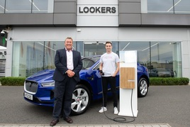 Andrew Hall, Lookers business development director and Rightcharge founder Charlie Cook