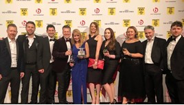 Lookers' attendees at The Sunday Times Best Companies to Work For collect their award