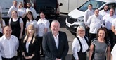 Rod Lloyd, managing director at Low Cost Vans, with some of his team