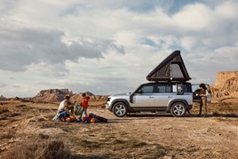 Overnight accommodation is among the new Land Rover Defender options list