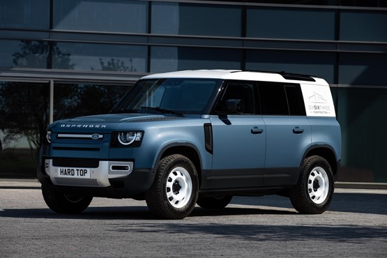 The New Land Rover Defender Hard Top commercial vehicle