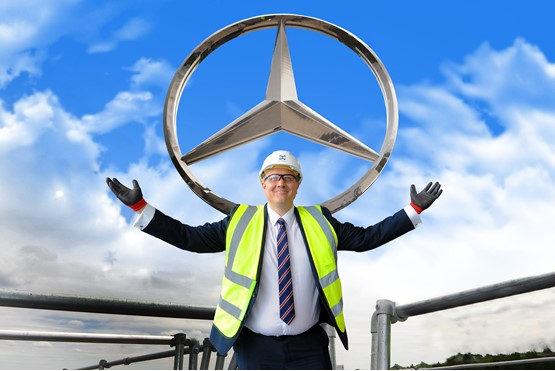 LSH Auto UK managing director, Martyn Webb, showed AM around the new Mercedes-Benz Stockport dealership when it was near to completion