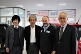 Tsuneyuki Hirose, assistant to Nobo Suyama; Takanori Suzuki, head of European automobiles; Robin Luscombe, managing director of Luscombe Suzuki and Suzuki GB managing director Nobuo Suyama.