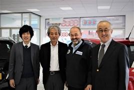 Tsuneyuki Hirose, assistant to Nobo Suyama; Takanori Suzuki, head of European automobiles; Robin Luscombe, managing director of Luscombe Suzuki and Suzuki GB managing director Nobuo Suyama.