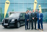 Lookers' team  at the new London EV Company's (LEVC) taxi retail franchise in Stockport