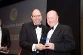 Award recognition: NFDA chairman Mark Squires with Windsors of Wallasey Ltd Group managing director David Tuomey