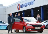 From left: Olivia and Peter Crowther with Mark Jones, sales manager at Motorpoint Birmingham