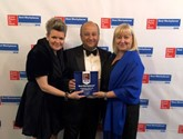 Great Places to Work (from left): Katie Williams, Marshall Motor Holdings' HR program manager; Daksh Gupta, chief executive; and Helen Burrows, HR director