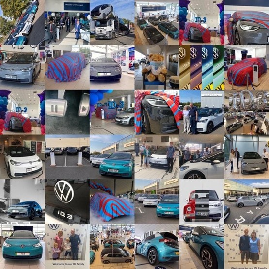 Marshall Motors Volkswagen ID.3 1ST Edition Grand Handover event collage