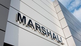 Marshall signage at a JLR Arch Concept dealership