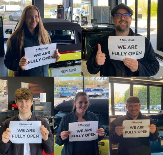 Marshall Motor Holdings' 'We Are Fully Open' social media campaign