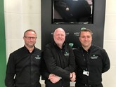 Martin Potter, (centre) congratulates Adrian (left) on his new role and welcomes Richard (right) to Aston Barclay Chelmsford