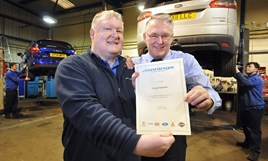 Jennings' Martyn Tinmouth receives his long-service award