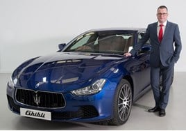 Howard Dalziel, Maserati GB's national corporate sales manager