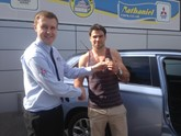 Nathaniel Cars lends rugby ace Mitsubishi Outlander PHEV