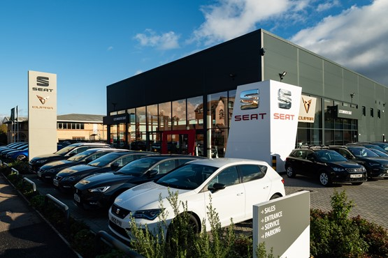 The newly-opened Cupra dealership at Letchworth