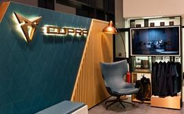 Details of the Cupra showroom corporate identity (CI)