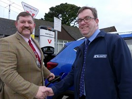 Mayor Dermot McGeough with Tim Blight from Blights Motors