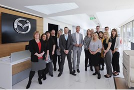 The team at Mazda's Kent-based Customer Relations Centre