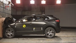 Mazda CX-30 during Euro NCAP crash testing