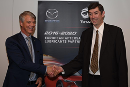 Jorgen Olesen, director of Mazda Motor Logistics Europe NV and Philippe Charleux, chairman and CEO of Total Lubrifiants