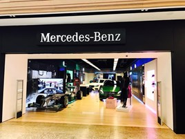 JCT600 Mercedes-Benz pop-up store at Meadowhall, Sheffield