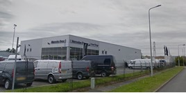 Mercedes-Benz Vans dealership site at Deeside