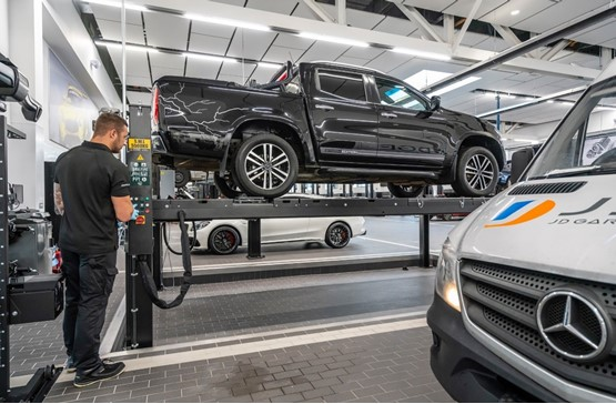 Aftersales operations at one of LSH Auto UK's new Mercedes-Benz Vans franchises