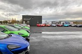 Park's Motor Group's temporary McLaren Automotive retail facility in Leeds