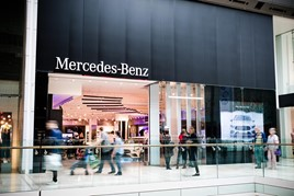 Mercedes-Benz pop-up Westfield
