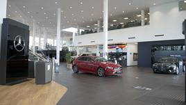 The upgraded LSH Auto UK Mercedes-Benz Erdington showroom