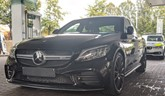 Derbyshire Constabulary's image of the seized Mercedes-Benz C63 AMG