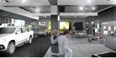 Artist's impression: how the Mercedes-Benz Vans Trafford Centre pop-up store should look