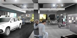 Artist's impression: how the Mercedes-Benz Vans Trafford Centre pop-up store should look