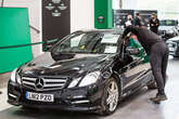 Mercedes-Benz going through Aston Barclay Wakefield