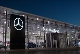 Mercedes star emblem