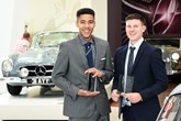 Mercedes-Benz Apprentice Programme award winners Lewis Bainbridge (left) and Ben Wood