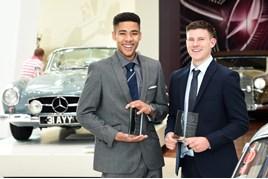 Mercedes-Benz Apprentice Programme award winners Lewis Bainbridge (left) and Ben Wood