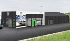 Artist's impression: Mervyn Stewart's North Down Skoda showroom