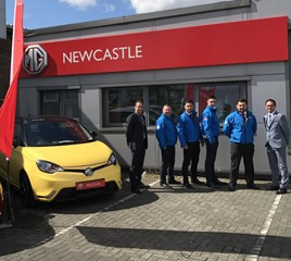 The Henson Motor Group team at MG Newcastle