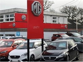 Unity Automotive's new MG Motor UK showroom in Coventry