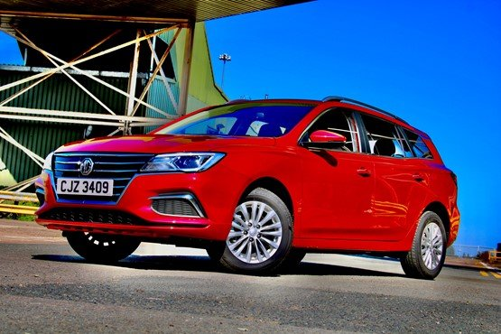A front view of MG Motor UK's new MG5 EV estate car