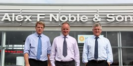 Alex F Noble & Son (left to right): Michael, Colin and David Noble.