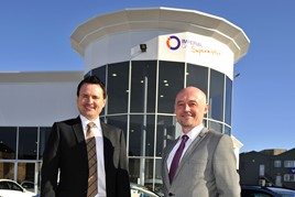 Growth plans: Imperial Car Supermarkets managing director Mike Bell (left) and operations director Neil Smith