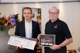 Park's Motor Group master technician Alan Williamson (right) secured third place in Mitsubishi Motors' European Technician of the Year contest