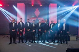 Winners (left to right): Ben Bird (Premier Mitsubishi), Leo Mansell (The Mansell Collection), Nigel Bird (Premier Mitsubishi), Tony Denton (Batchelors of Ripon), Lance Bradley, Nathan Tomlinson (Devonshire Motors), Dean Wood (Firs Garage), Bill Robson and Neal Gibson (Tees Valley Mitsubishi).