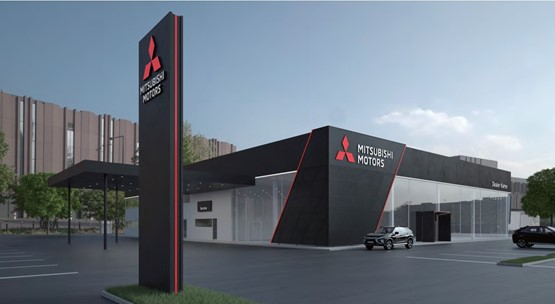 Mitsubishi Motor Corporation's (MMC) new dealer corporate identity was revealed in 2018