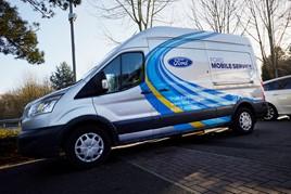 A TrustFord mobile vehicle servicing van
